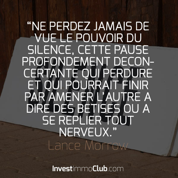 InvestImmoClub-Citations-03-LePouvoirDuSilenceNegociation