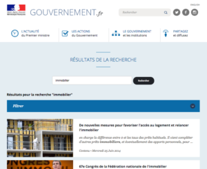 Information Gouvernement Immobilier